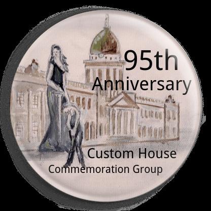 badge Burning of Dublin Custom House 1921