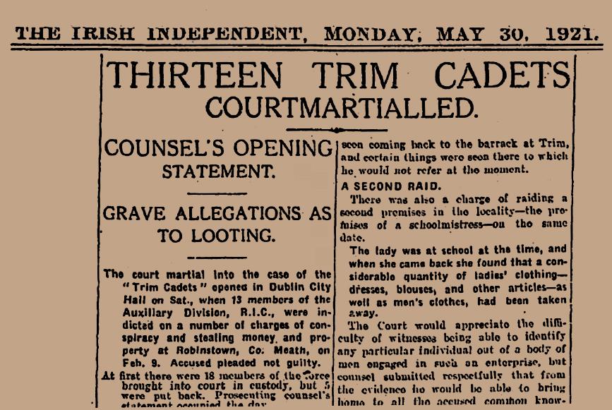 trim Burning of Dublin Custom House 1921