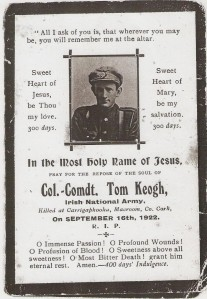 Tom Kehoe mass card