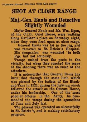 Gen Ennis shot FJ