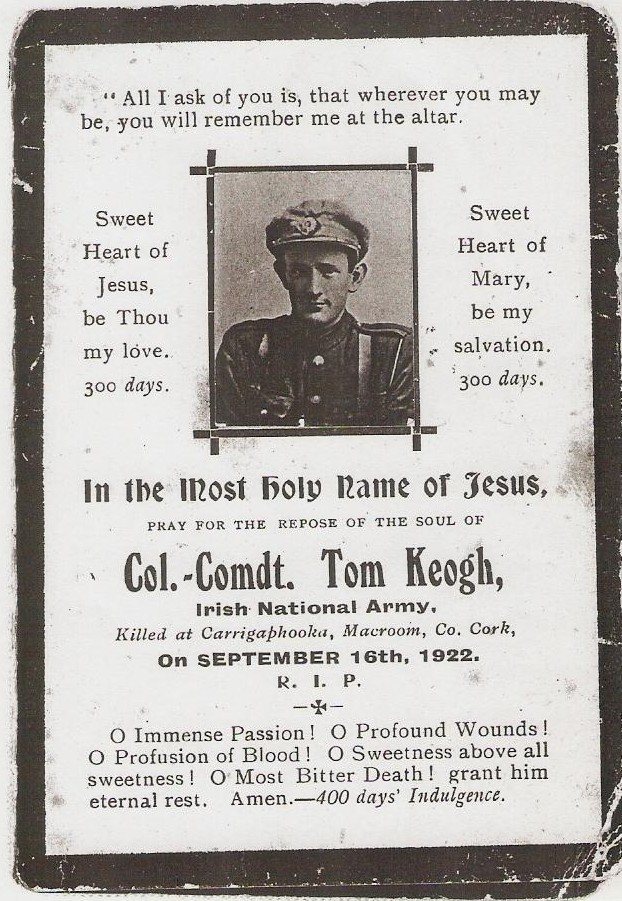Tom Kehoe mass card