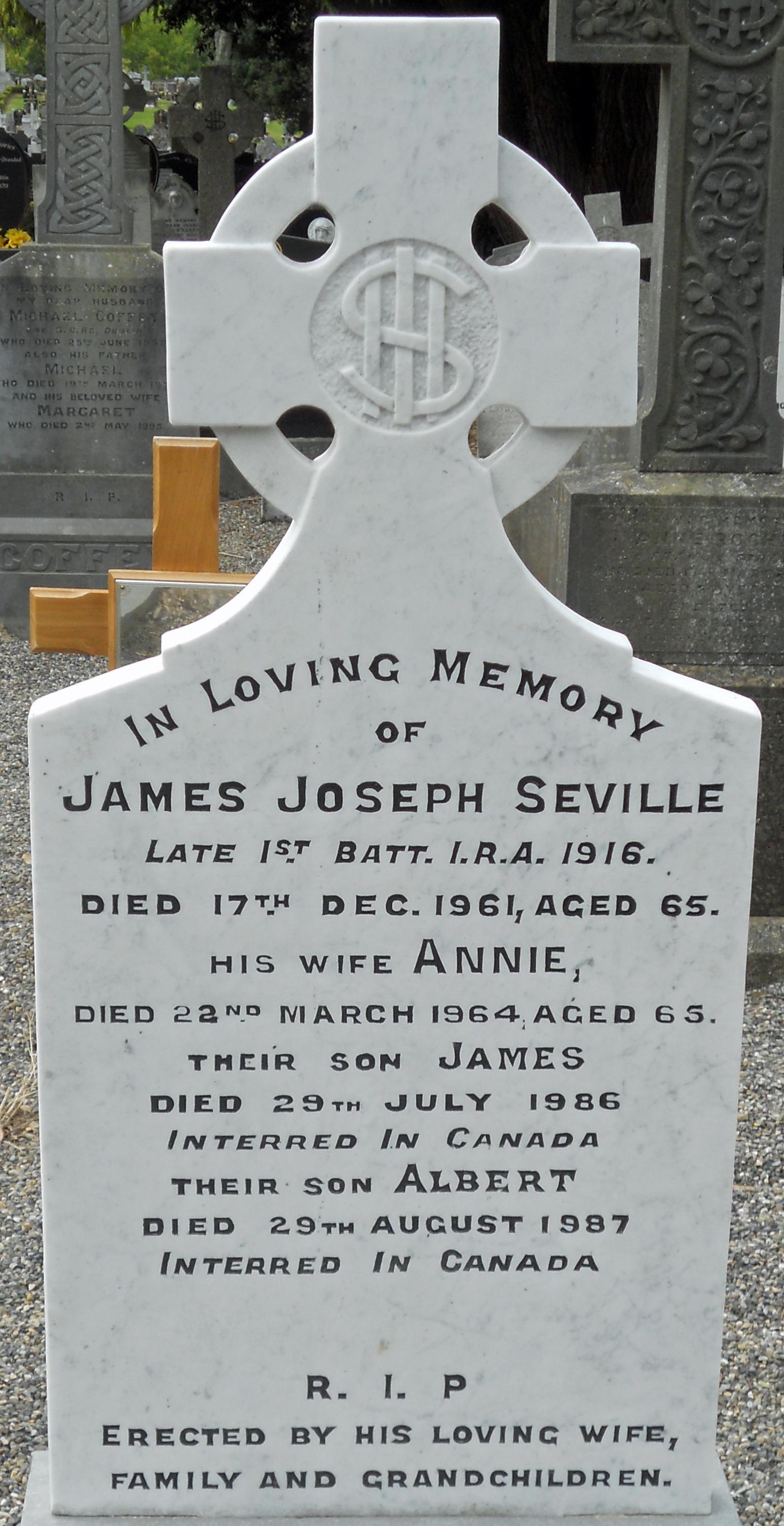 James Seville grave